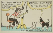 Image of Mr. Caniff Will Be 80 on Saturday!  I'll Make a Birthday Card for Him! - Chillino, Lisa